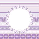 Template of decorative card, invitation or frame. For your design Stock Image