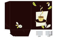 Template for decorative folder royalty free stock photography