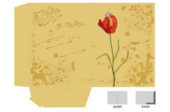 Template for decorative folder Royalty Free Stock Images
