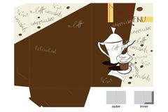 Template for decorative folder Stock Image