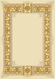 Template decorative frame Royalty Free Stock Photography