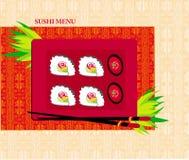 Template Design of Asian Menu Royalty Free Stock Images