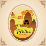 Template Design of Asian Menu Stock Images