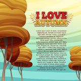Template Design autumn poster, brochures, posters Royalty Free Stock Photos
