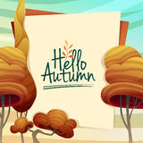 Template Design autumn poster, brochures, posters Stock Image