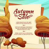 Template Design autumn sale, brochures, posters Royalty Free Stock Images