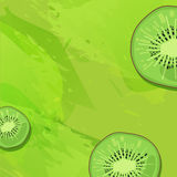 Template design banner background with kiwi fruit.  Stock Photos