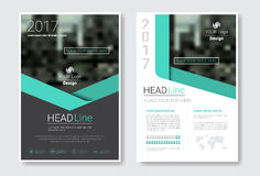 Template Design Brochure, Annual Report, Magazine, Poster, Corporate Presentation, Portfolio, Flyer With Copy Space. Vector Illustration Royalty Free Stock Image