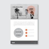 Template Design Brochure, Annual Report, Magazine, Poster, Corporate Presentation, Portfolio, Flyer With Copy Space Royalty Free Stock Photography