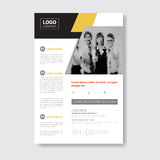 Template Design Brochure, Annual Report, Magazine, Poster, Corporate Presentation, Portfolio, Flyer With Copy Space Royalty Free Stock Image