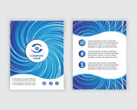 Template design brochure or cover with logo and Stock Images