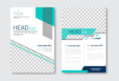 Template Design Brochure Set, Annual Report, Magazine, Poster, Corporate Presentation Collection, Portfolio, Flyer With. Copy Space Vector Illustration Royalty Free Stock Images