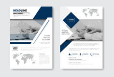 Template Design Brochure Set, Annual Report, Magazine, Poster, Corporate Presentation, Portfolio, Flyer Collection With. Copy Space Vector Illustration Royalty Free Stock Photos