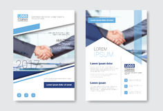Template Design Brochure Set, Annual Report, Magazine, Poster, Corporate Presentation, Portfolio, Flyer Collection With. Copy Space Vector Illustration Stock Photography