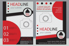 Template design of brochures with place for your photo. A sample Royalty Free Stock Images