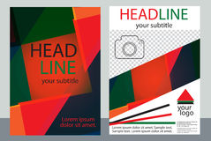 Template design of brochures with place for your photo. A sample Royalty Free Stock Photos