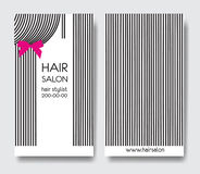 Template design business card with hair royalty free illustration