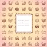 Template design card with different crowns Stock Photos