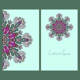 Template design cards. Business card. Card or invitation. Mandala Design Stock Photography