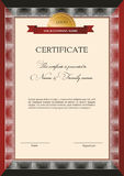Template design certificate Stock Photography