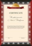 Template design certificate. On black background royalty free illustration