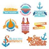 Template design color logo, label, badge, prints Royalty Free Stock Photo