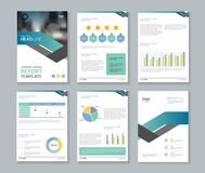 Template design for company profile ,annual report , brochure , flyer Stock Photos