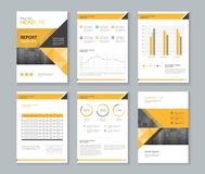 Template design for company profile ,annual report , brochure , flyer Royalty Free Stock Photo