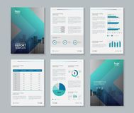 Template design for company profile ,annual report , brochure , flyer. And page layout with business info graphic element, A 4 size, vector editable Royalty Free Stock Photos