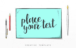 Template design concept sketch illustration for marketing. Concept mockup Royalty Free Stock Photo