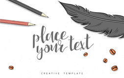 Template design concept sketch illustration for marketing. Concept mockup Royalty Free Stock Photography