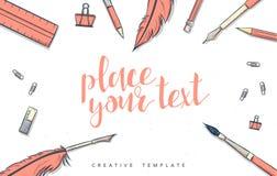 Template design concept sketch illustration for marketing. Concept mockup Stock Image