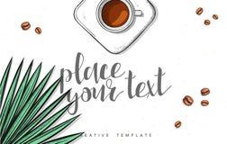 Template design concept sketch illustration for marketing. Concept mockup Royalty Free Stock Images