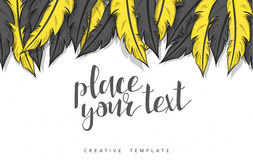 Template design concept sketch illustration for marketing. Concept mockup Royalty Free Stock Photos