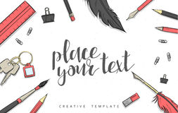 Template design concept sketch illustration for marketing. Concept mockup Stock Photo
