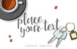 Template design concept sketch illustration for marketing. Concept mockup Stock Images