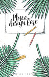 Template design concept sketch illustration for marketing. Concepts web banners Stock Photo