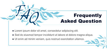 Template of design for FAQ Stock Images