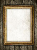 Template design - frame on wood background Royalty Free Stock Photo