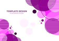 Template Design Geometric abstract  background royalty free illustration