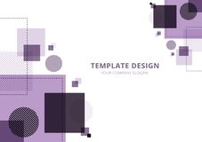 Template Design Geometric abstract  background , Purple Tone. Vector illustration,Abstract Background,Template Design, Geometric purple Tone stock illustration