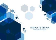 Template Design, Geometric Blue Tone,Background vector illustration