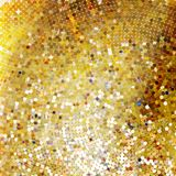 Template design on gold glittering. EPS 10 Stock Photography