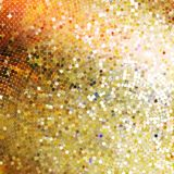 Template design on gold glittering. EPS 10 Royalty Free Stock Image