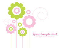Template Design for Greeting Card. Floral background with place for your text for multi-purposes Royalty Free Stock Images