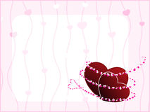 Template design greeting card for Valentine Day. Stock Photo