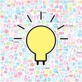 Template design light bulb idea Stock Photo