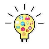 Template design light bulb idea Stock Images