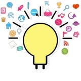 Template design light bulb idea Royalty Free Stock Image