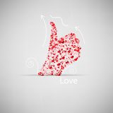 Template design Like symbol icon Valentine's day Royalty Free Stock Photos